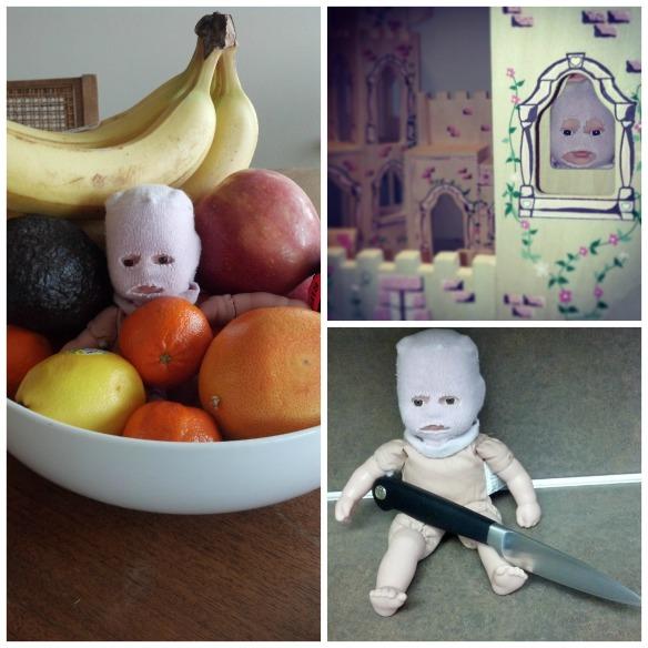 Creepy Baby collage