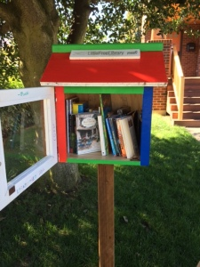 Our neighbor's Little Free Library, which boosted my child's enthusiasm for books