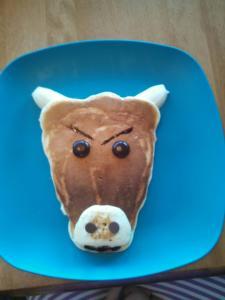 Bull pancake